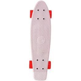 "Скейтборд Y-SCOO Fishskateboard 22"" RT винил 56,6х15 с сумкой GREY/red 401-G"