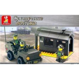 Конструктор SLUBAN Армия - Контрольно-пропускной пункт 171 элемент M38-B6100
