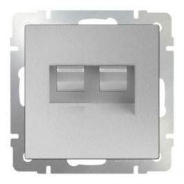 Розетка телефонная RJ-11 и Ethernet RJ-45 серебряный WL06-RJ11+RJ45 4690389053948