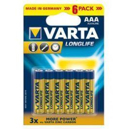 Батарейки Varta Longlife AAA 6 шт