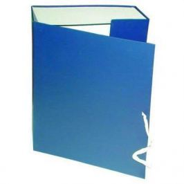 Короб архивный на завязках, бумвинил, 320х242х80 мм, синий КАрхБ/В-80С