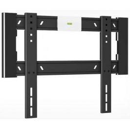 "Кронштейн Holder LCD-F4607-B черный для ЖК ТВ 32-65"" настенный от стены 18мм наклон 0° VESA 400x400 до 40 кг"
