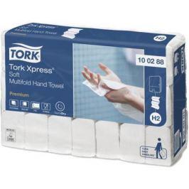 Полотенца бумажные TORK PREMIUM, сложение Multifold, H2, 2-сл., белые, 21х34 см 100288/T