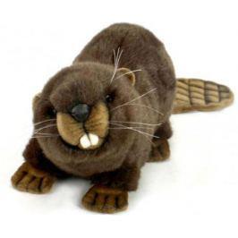 Мягкая игрушка бобер Hansa Бобёр искусственный мех коричневый 32 см 3074Б