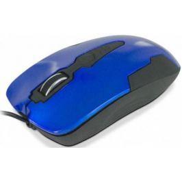 Мышь проводная CBR CM 305 чёрный синий USB