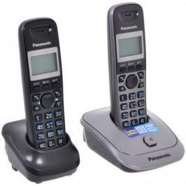 Телефон DECT Panasonic KX-TG2512RU1 темно-серый металлик
