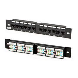 """Патч-панель Hyperline PP-10-12-8P8C-C5e-110D 10"""" 1U 12 портов RJ-45 полн. экран категория 5e Dual IDC"""