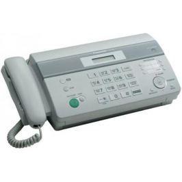 Факс Panasonic KX-FT982RUW на т/бумаге, 9600 бит/с, АОН, справ 100 аб., монитор (белый)