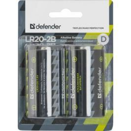 Батарейки Defender LR20-2B D 2 шт 56022