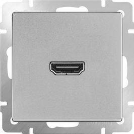 Розетка HDMI серебряная WL06-60-11 4690389097461