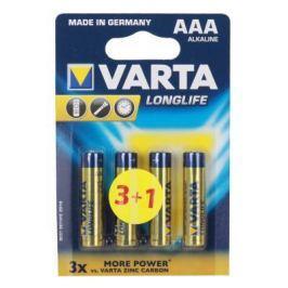 Батарейки Varta Long Life LR03 AAA 4 шт