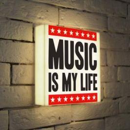 Лайтбокс Music is my life 25x25-072