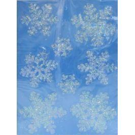 Наклейка Winter Wings панно Снежинки, прозрачная, с блестящей крошкой 29х40 см N09214