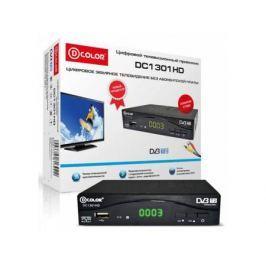 Тюнер цифровой DVB-T2 D-Color DC1301HD черный