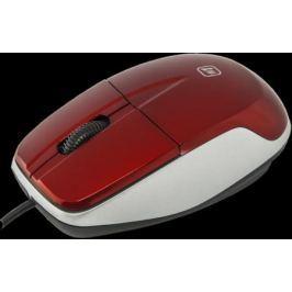 Мышь проводная Defender MS-940 красный USB 585544