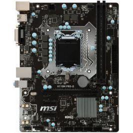 Материнская плата MSI H110M PRO-D Socket 1151 H110 2xDDR4 1xPCI-E 16x 2xPCI-E 1x 4 mATX Retail