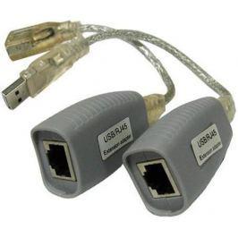 Удлинитель OSNOVO TA-U1/1+RA-U1/1 для интерфейса USB 1.1 для клавиатуры и мыши по кабелю витой пары CAT5/5e/6 до 100м