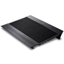 """Подставка для ноутбука 17"""" Deepcool N8 BLACK 380x278x55mm 2xUSB 1244g 25dB черный"""