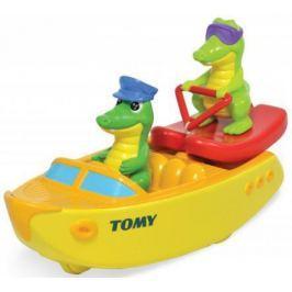 Игрушка для купания для ванны TOMY Крокодил на водных лыжах