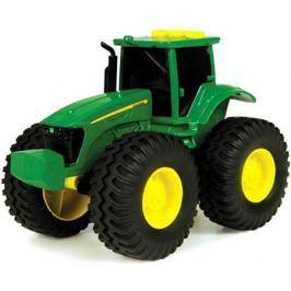 Трактор Tomy John Deere зеленый 19 см с большими колесами, звук, свет