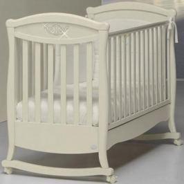 Кроватка-качалка Bambolina Principessa Cristallo (слоновая кость)