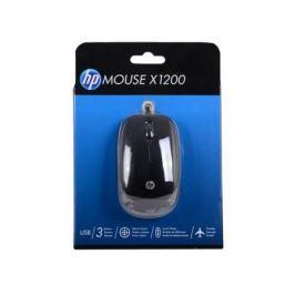 Мышь проводная HP X1200 Sparkling чёрный USB H6E99AA