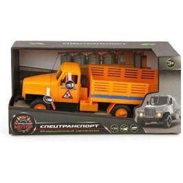 Самосвал Пламенный мотор СтройТранс оранжевый 870041