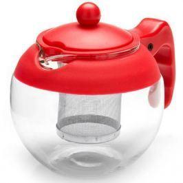 Чайник заварочный Mayer&Boch 26174-1-MB красный 0.75 л металл/стекло