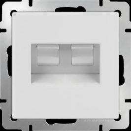 Розетка двойная Ethernet RJ-45 белая WL01-RJ45+RJ45 4690389073526