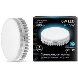 Лампа светодиодная таблетка Gauss 108008206 GX53 6W 4100K