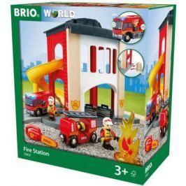 """Игровой набор Brio """"Пожарное отделение"""",2 эт.,свет,звук,12 предм.,35х20х39см,кор."""