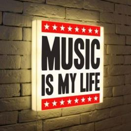 Лайтбокс Music is my life 45x45-072