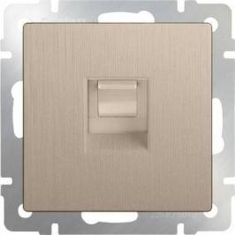 Розетка Ethernet RJ-45 шампань рифленая WL10-RJ-45 4690389085239