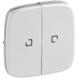 Лицевая панель Legrand Valena Allure для выключателя 2-клавишного с подсветкой жемчуг 755229