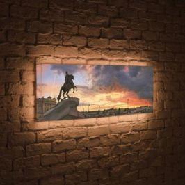 Лайтбокс панорамный Медный всадник 35x105-p031