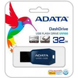 Флешка USB 32Gb A-Data UV100 USB2.0 AUV100-32G-RBL синий