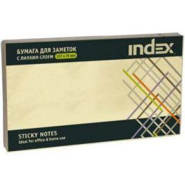 Бумага с липким слоем Index 100 листов 127х76 мм желтый I435601