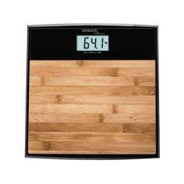Весы напольные Scarlett SC-BS33E064 бамбук коричневый рисунок