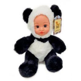 Мягкая игрушка панда Fluffy Family Крошка панда 30 см белый черный бежевый текстиль искусственный мех пластик 681241