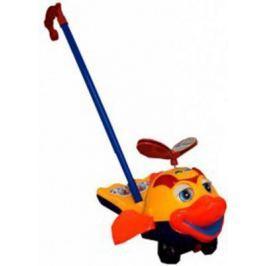 "Каталка на палочке S+S Toys ""Рыбка"" оранжевый от 1 года пластик"