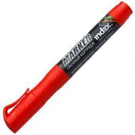 Маркер перманентный Index IMPR600/RD 3 мм красный со сменными чернилами IMPR600/RD