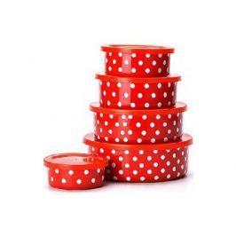 Набор эмалированных мисок Mayer&Boch 21524 10 предметов красный с рисунком