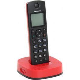Радиотелефон DECT Panasonic KX-TGC310RUR черно-красный