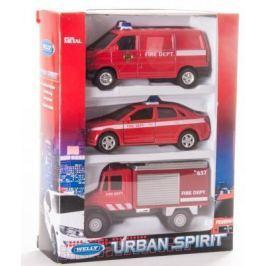 Игровой набор Welly Пожарная служба красный 3 шт 99610-3C