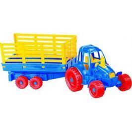 Трактор Нордпласт с прицепом разноцветный 54 см цвет в асс.