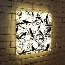 Лайтбокс Птицы зимой 45x45-021