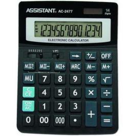 Калькулятор настольный Assistant AC-2477 14-разрядный черный
