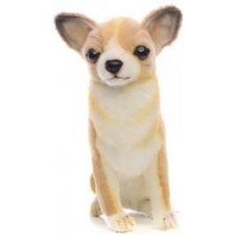 Мягкая игрушка собака Hansa Собака породы Чихуахуа искусственный мех синтепон коричневый белый 31 см 6501