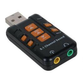 Переходник USB 2.0 - 2xJack3.5mm ORIENT AU-01PL