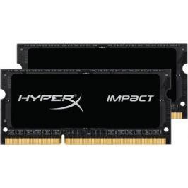 Оперативная память для ноутбуков SO-DDR3 16Gb(2x8Gb) PC12800 1600MHz Kingston CL9 HX316LS9IBK2/16 HyperX Impact Black